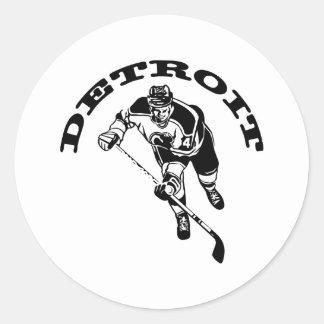 Detroit Hockey Player Sticker