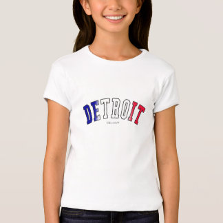 Detroit in Michigan state flag colors T-Shirt