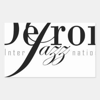 Detroit Intl Jazz Magazine Rectangle Stickers