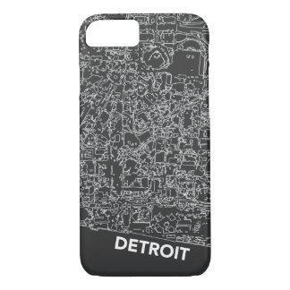 Detroit Line Map Dark Grey Case