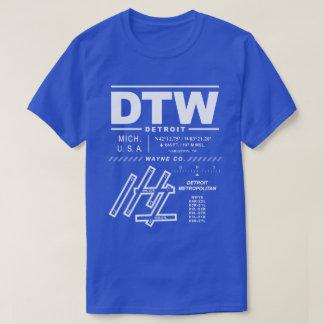 Detroit Metropolitan Wayne Co Airport(DTW) T-Shirt