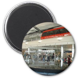 Detroit Metropolitan Wayne Country Airport 6 Cm Round Magnet