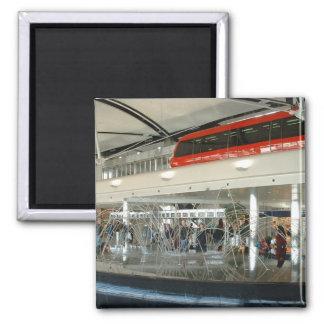 Detroit Metropolitan Wayne Country Airport Square Magnet