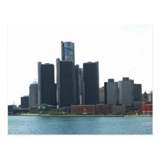 Detroit, MI skyline Postcard