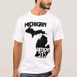 Detroit,Michigan 313 T-Shirt