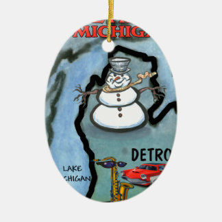 Detroit Michigan Christmas Ornament