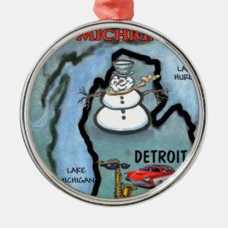 Detroit Michigan Christmas Ornament