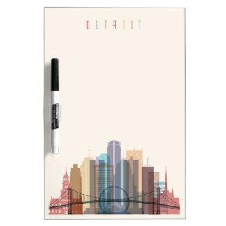 Detroit, Michigan   City Skyline Dry Erase Whiteboard