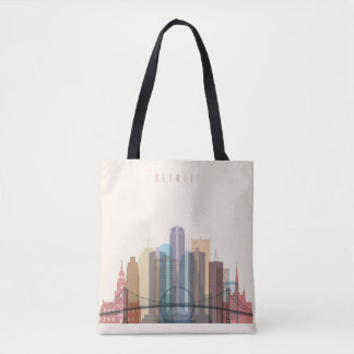 Detroit, Michigan | City Skyline Tote Bag
