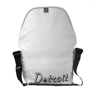 Detroit Michigan Classic Retro Design Commuter Bags