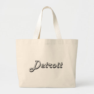 Detroit Michigan Classic Retro Design Jumbo Tote Bag