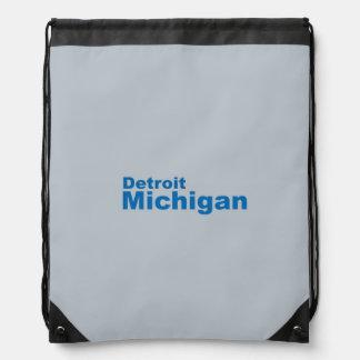 Detroit, Michigan Drawstring Backpack