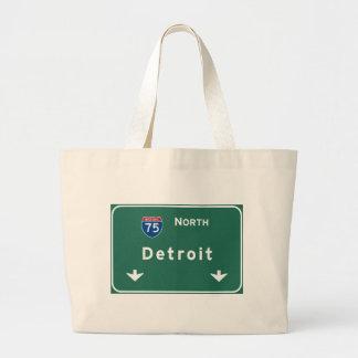 Detroit Michigan mi Interstate Highway Freeway : Jumbo Tote Bag