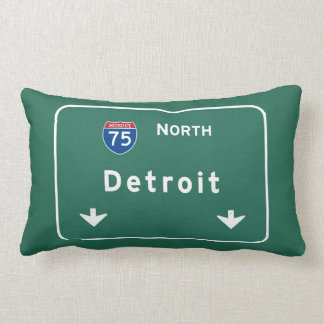 Detroit Michigan mi Interstate Highway Freeway : Lumbar Cushion