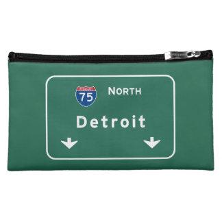 Detroit Michigan mi Interstate Highway Freeway : Makeup Bag