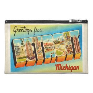 Detroit Michigan MI Old Vintage Travel Souvenir Travel Accessories Bags