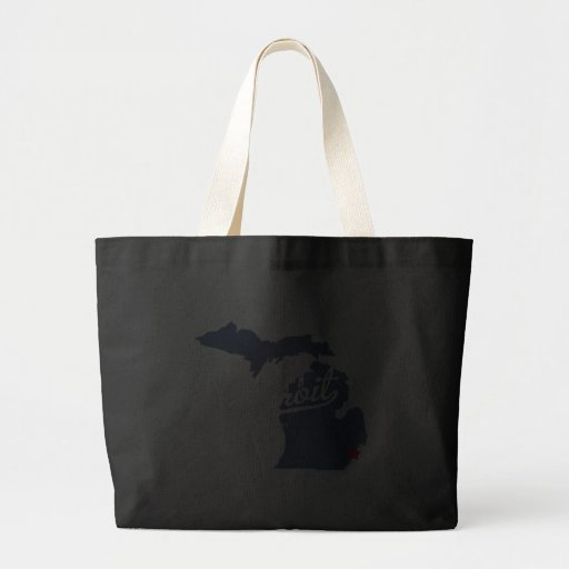 Detroit Michigan MI Shirt Canvas Bags