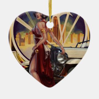 Detroit, Michigan   Motor City Ceramic Heart Decoration
