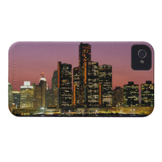 Detroit, Michigan Skyline at Night iPhone 4 Case-Mate Case