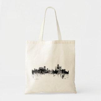 Detroit Michigan Skyline Budget Tote Bag