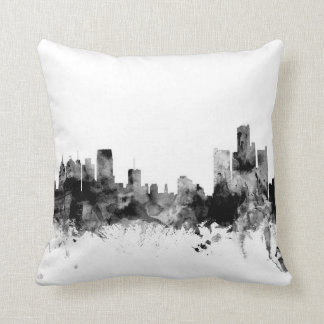 Detroit Michigan Skyline Cushion
