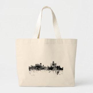 Detroit Michigan Skyline Large Tote Bag