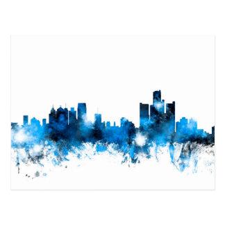 Detroit Michigan Skyline Postcard