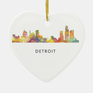 DETROIT, MICHIGAN SKYLINE WB1 - CHRISTMAS ORNAMENT