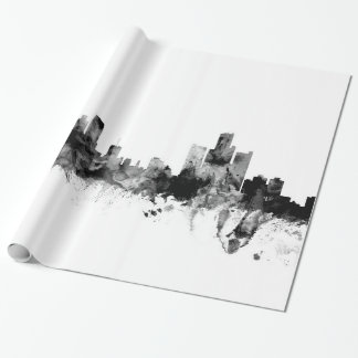 Detroit Michigan Skyline Wrapping Paper
