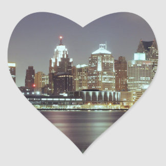 Detroit, Michigan Heart Sticker