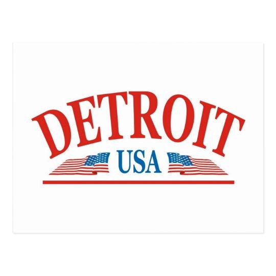 Detroit Michigan USA Postcard