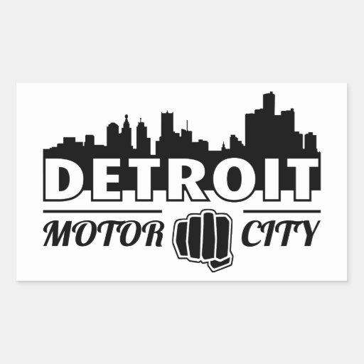 Detroit Motor City Skyline Sticker Zazzle