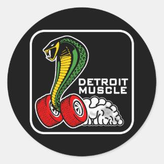 Detroit Muscle Round Sticker