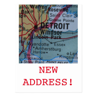 Detroit New Address announcement Postcard