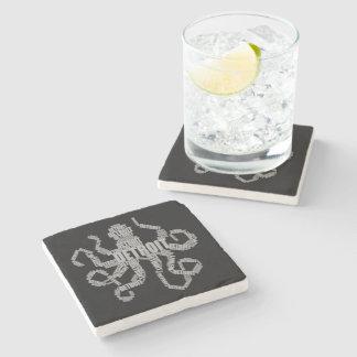 Detroit Octopus Art Stone Coaster
