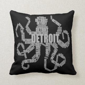 Detroit Octopus Art Throw Pillow