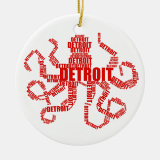 Detroit Octopus Christmas Ornament