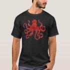 Detroit Octopus in Black T-Shirt