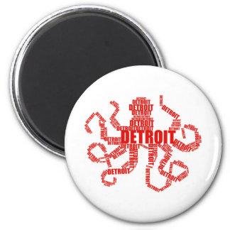 Detroit Octopus Magnet