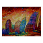 Detroit on the Rocks I - Canvas Print