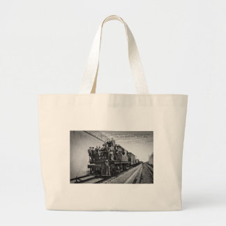 Detroit River Railroad Tunnel Jumbo Tote Bag
