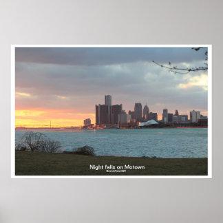 Detroit Riverscape Poster