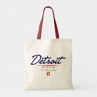Detroit Script Budget Tote Bag