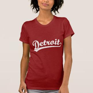 Detroit script logo in white T-Shirt
