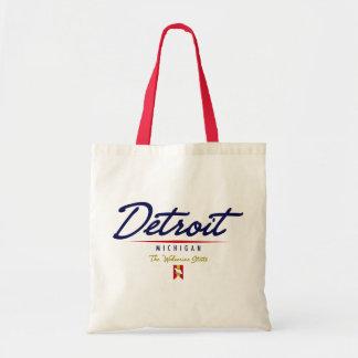 Detroit Script Tote Bag