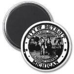 Detroit Seal 6 Cm Round Magnet