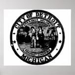 Detroit Seal Poster