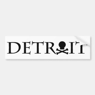 Detroit Skull Bumper Sticker