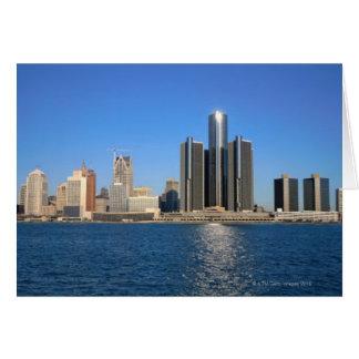Detroit skyline 2 card
