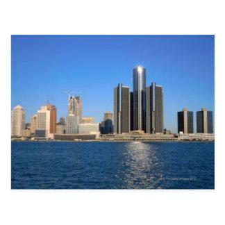 Detroit skyline 2 postcard